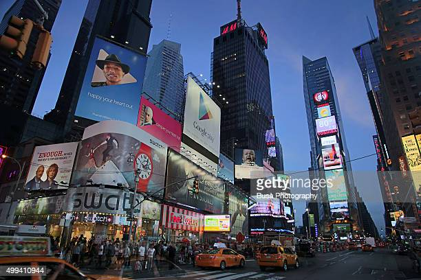 Twilight in Times Square, Midtown Manhattan, New York City