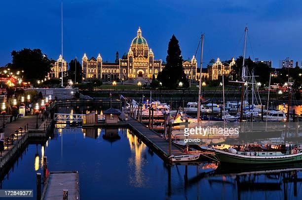 Twilight in Victoria, British Columbia