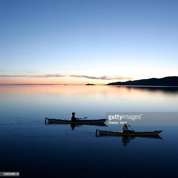 XXL twilight kayakers