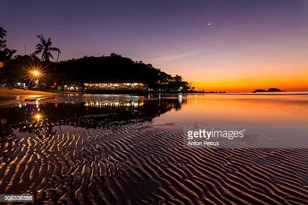 Twilight on a tropical island