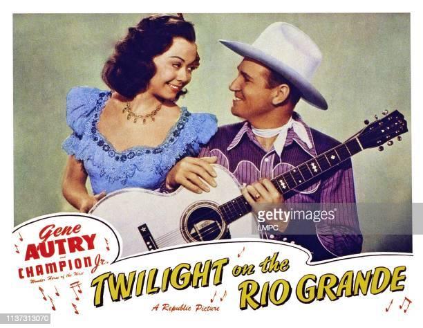 Twilight On The Rio Grande US lobbycard from left Adele Mara Gene Autry 1947