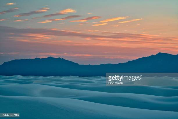twilight over large dunes - don smith stock photos and pictures
