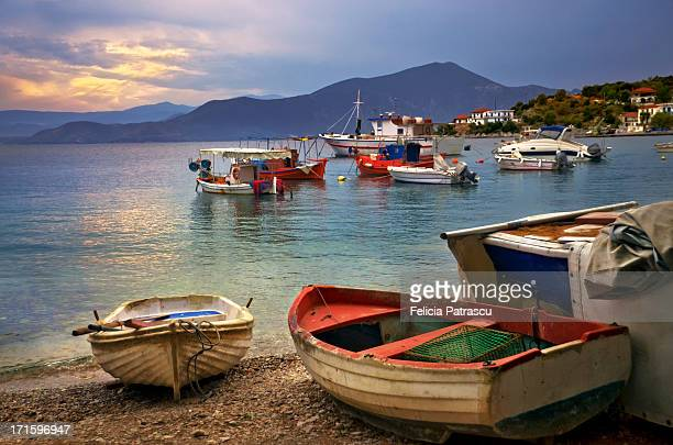 twilight - pelion stock pictures, royalty-free photos & images
