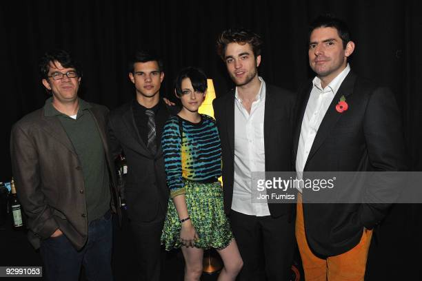 Twilight Producer Wyck Godfrey, Taylor Lautner, Kristen Stewart, Robert Pattinson and director Chris Weitz attends The Twilight Saga: New Moon, UK...