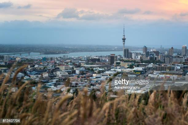 Twilight times of Auckland city, New Zealand.