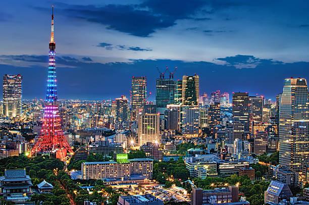 Twilight Tokyo Skyline Wall Art