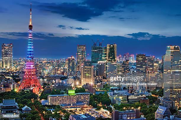 Twilight Tokyo Skyline