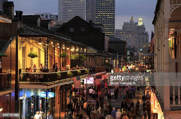 Twilight view of Bourbon Street