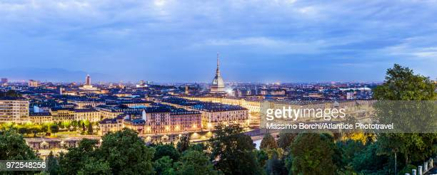 Twilight view of the town with Mole Antonelliana
