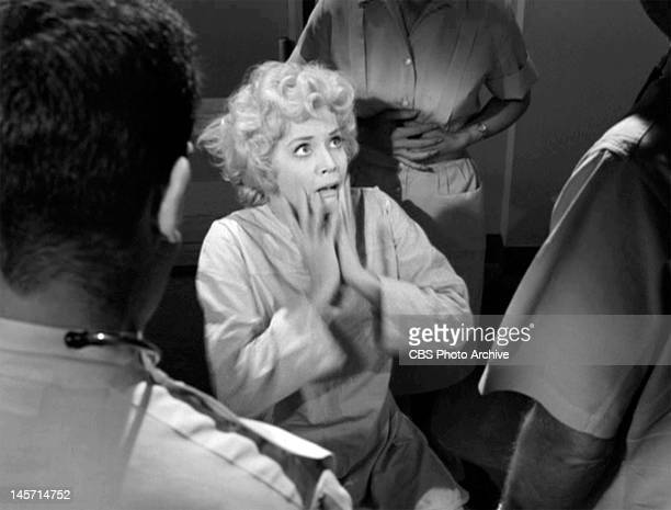 Twilight Zone episode 'Eye of the Beholder' written by Rod Serling Donna Douglas as patient Janet Tyler post head bandages Originally broadcast on...