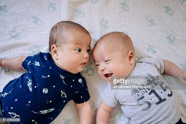 Twin Babies Play Together