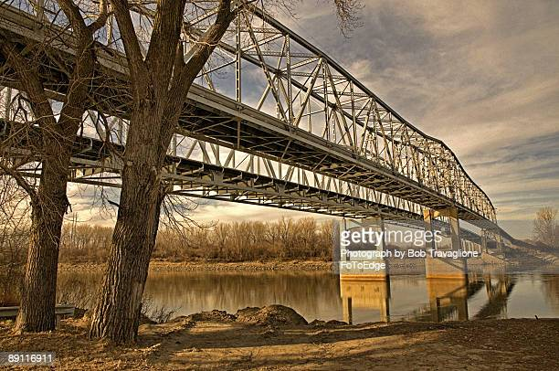 Twin Bridges over the Missouri River