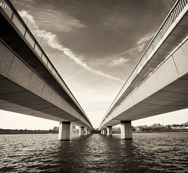 Twin Bridges over Water
