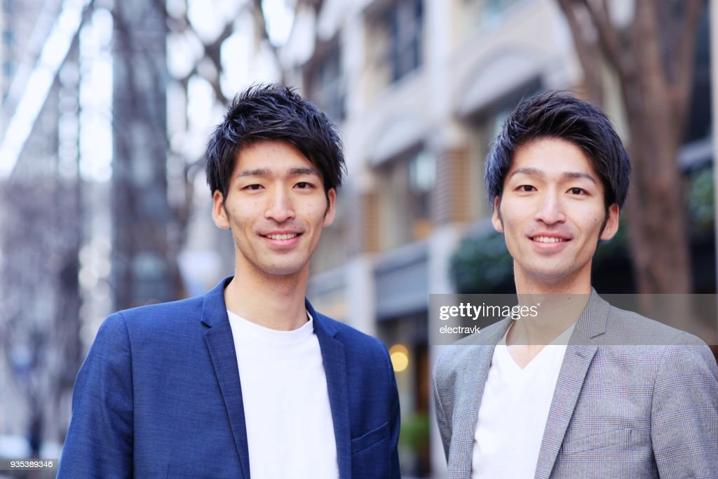 Twin brothers : Stock Photo
