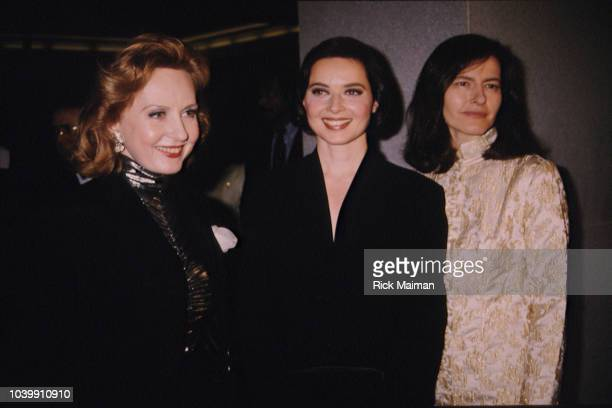 Twin daughters of Ingrid Bergman and Roberto Rossellini, Isabella Rossellini and Isotta Rossellini and their half-sister Pia Lindstrom .