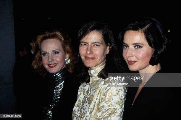 Twin daughters of Ingrid Bergman and Roberto Rossellini, Isotta Rossellini and Isabella Rossellini and their half-sister Pia Lindstrom at the 50th...