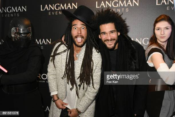 Twin DJ Nicolas Le Strat and Alex Le Strat attend the Star Wars Party at Le Saint Fiacre on December 12 2017 in Paris France