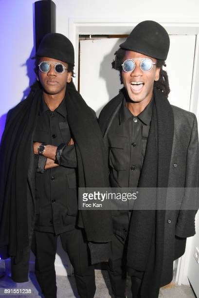 Twin DJs Regis Abby and Brice Abby attend the Star Wars Party at Le Saint Fiacre on December 12 2017 in Paris France