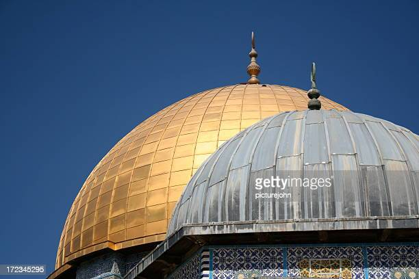 twin domes - al aqsa mosque stock pictures, royalty-free photos & images
