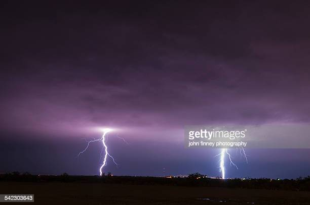 Twin lightning bolts, New Mexico