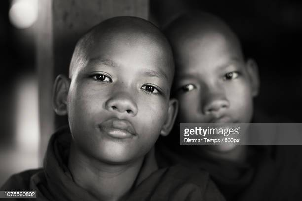 twin novices, myanmar - dietmar temps 個照片及圖片檔