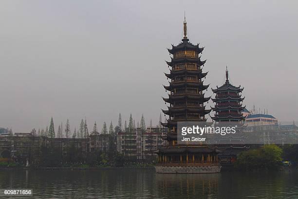 Twin Pagoda in China