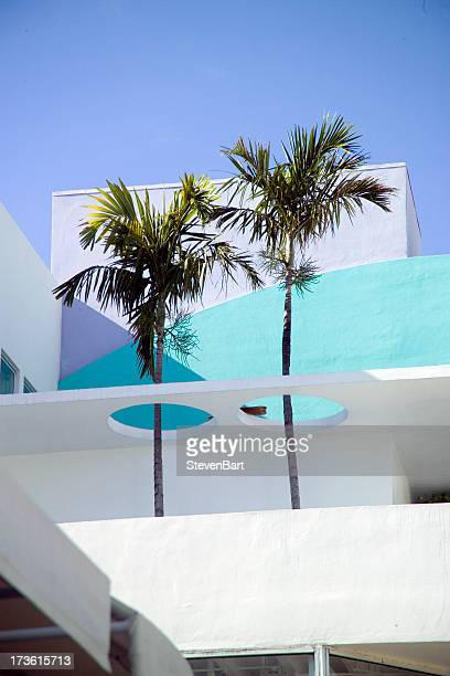 twin palms, south beach - miami stock pictures, royalty-free photos & images