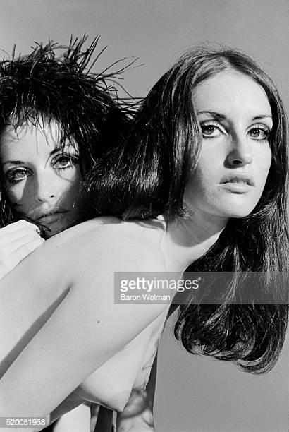 Twin sisters and rock groupies Laura and Lynn Sanchez in San Francisco CA June 1968