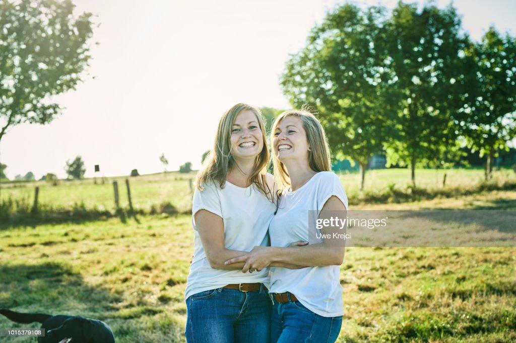 Twin Sisters : Stock Photo