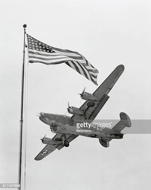 Twin Symbols of Liberation Dayton Ohio Symbol of freedom since its conception Old Glory waves majestically as as modern warplane a B24 liberator...