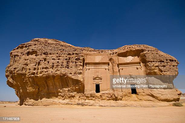 twin tombs at medain saleh - empty tomb stock pictures, royalty-free photos & images