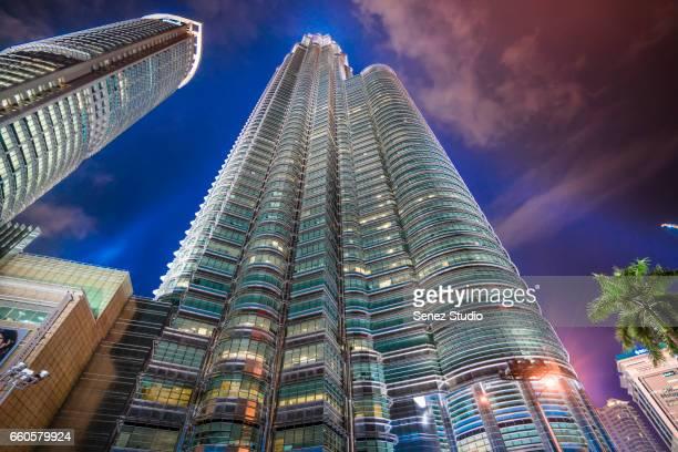 Twin Tower at Kuala Lumpur, Malaysia.