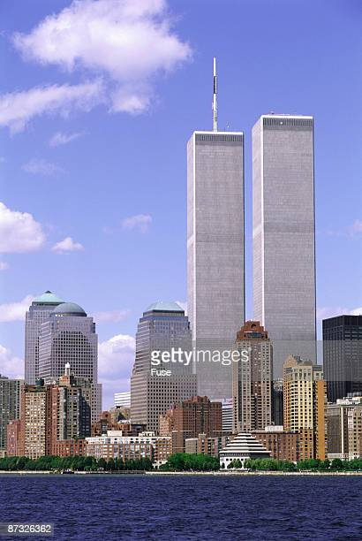 twin towers at world trade center - ニューヨーク郡 ストックフォトと画像