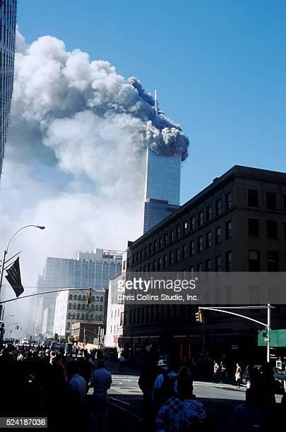 Twin Towers burning - New York City