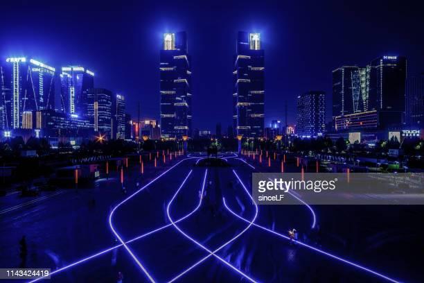 ツインタワー、鄭州、中国 - 鄭州市 ストックフォトと画像