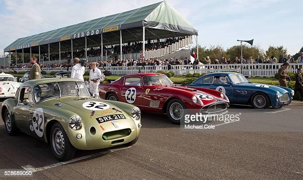 TwinCam Le Mans 1958 Ferrari 250 GT Tour de France 1958 Aston Martin DB2/4 Fordwater Trophy at The Goodwood Revival Meeting 15th Sept 2013