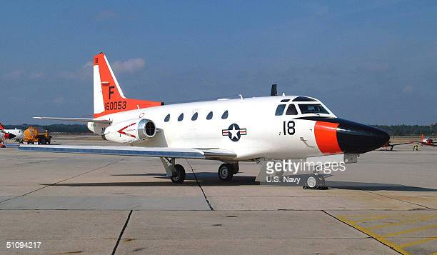 TwinEngine US Navy T39 Sabreliner Sits On The Tarmac May 9 2002 At The Pensacola Naval Air Station Fl Two T39S From The Training Squadron 86 Similar...
