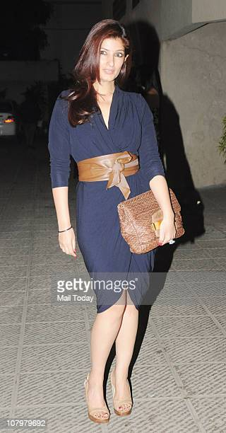 Twinkle Khanna at the birthday party of actor Hrithik Roshan
