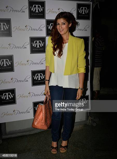 Twinkle Khanna at the launch of new collection at her store 'The White Window' in Mumbai
