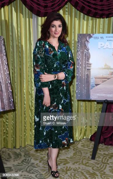 Twinkle Khanna attends a photocall for 'Pad Man' at The Bentley Hotel on January 18 2018 in London England