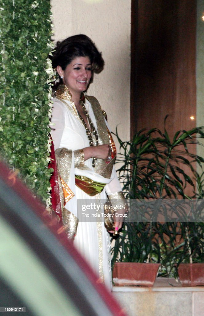 Twinkle Khanna during the Bachchans diwali bash in Mumbai