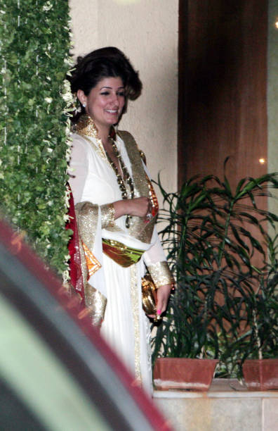Twinkle Khanna during the Bachchans diwali bash in Mumbai