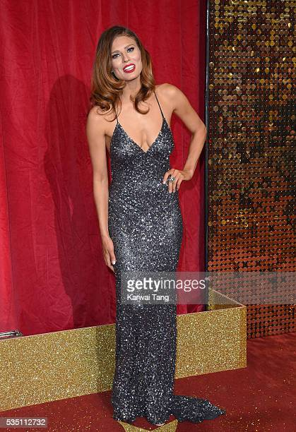 TwinnieLee Moore arrives for the British Soap Awards 2016 at the Hackney Town Hall Assembly Rooms on May 28 2016 in London England