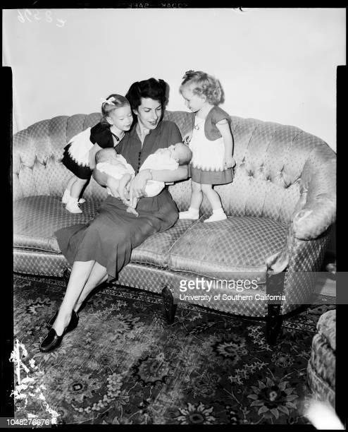 Twins 2 August 1952 Mrs Betty F Christiansen James Allen Christiansen 9 daysJudy Lee Christiansen 9 days Jan Lynn Christiansen 18 monthsJean Ann...