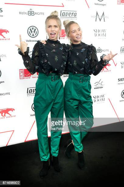 Twins and youtube stars Lena and Lisa attend the New Faces Award Style 2017 at The Grand on November 15 2017 in Berlin Germany