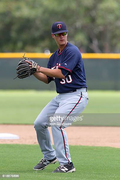 Twins CBB pick Jose Miranda during the Gulf Coast League game between the GCL Twins and the GCL Orioles at the Orioles Minor League Complex in...