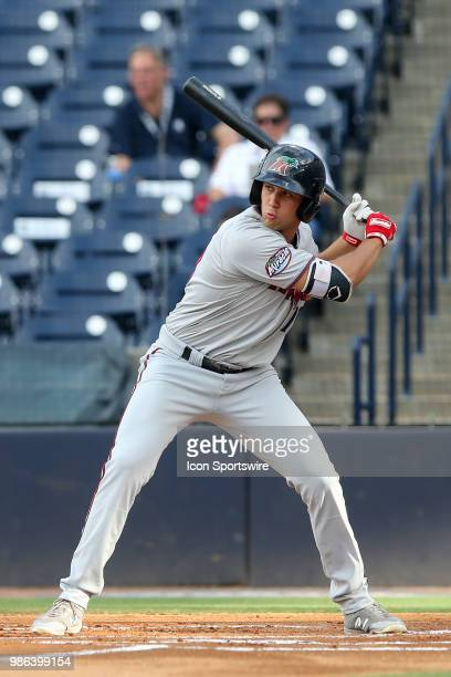 Twins first round pick Alex Kirilloff of the Miracle at bat during the Florida State League game between the Ft Myers Miracle and the Tampa Tarpons...