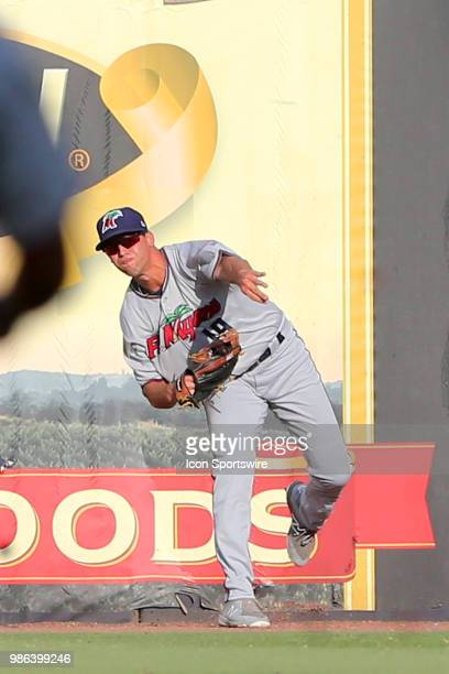 Twins first round pick Alex Kirilloff of the Miracle during the Florida State League game between the Ft Myers Miracle and the Tampa Tarpons on June...