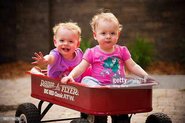 Twins in the Red Wagon