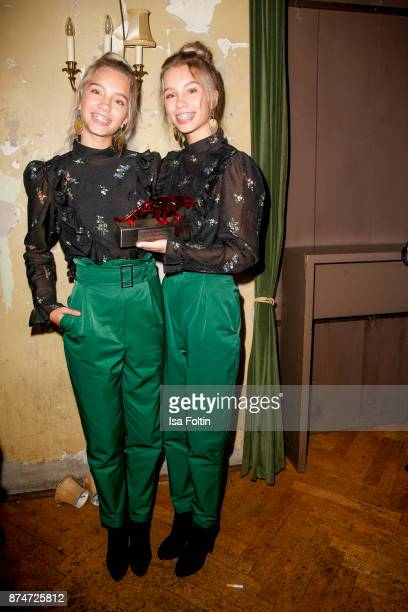 Twins youtube stars and award winner Lisa and Lena during the New Faces Award Style 2017 at The Grand on November 15 2017 in Berlin Germany